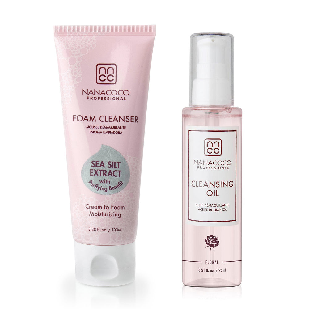 Nanacoco Professional Foam Cleanser and cleansing oil