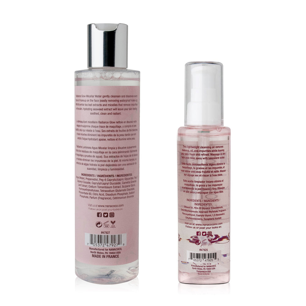 Radiance Glow Micellar Water and Cleansing Oil