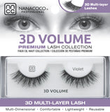 Eyelashes Premium 3D Volume black Violet in box