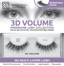 Load image into Gallery viewer,  Eyelashes Premium 3D Volume black Aria in packaging
