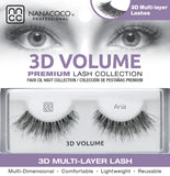 Eyelashes Premium 3D Volume black Aria in packaging