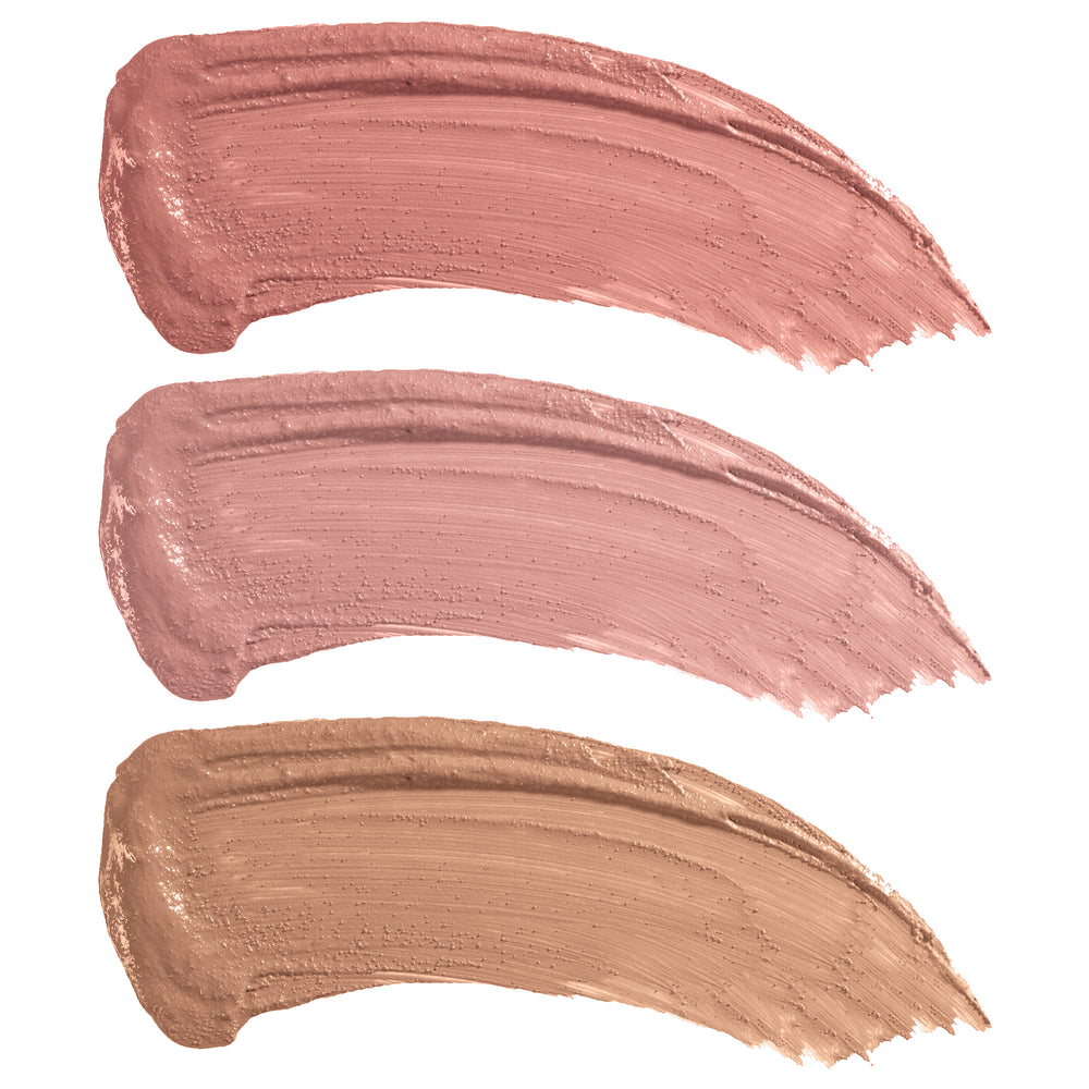 Privacy Please Lip Creme Trio Nude Lipstick swatches