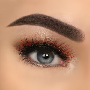 Eyelashes Premium Extreme Orange 3D Harper