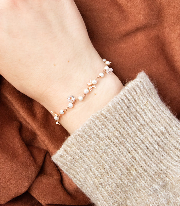 PEARL | ARMBND PERLE | 925 STERLING SILBER