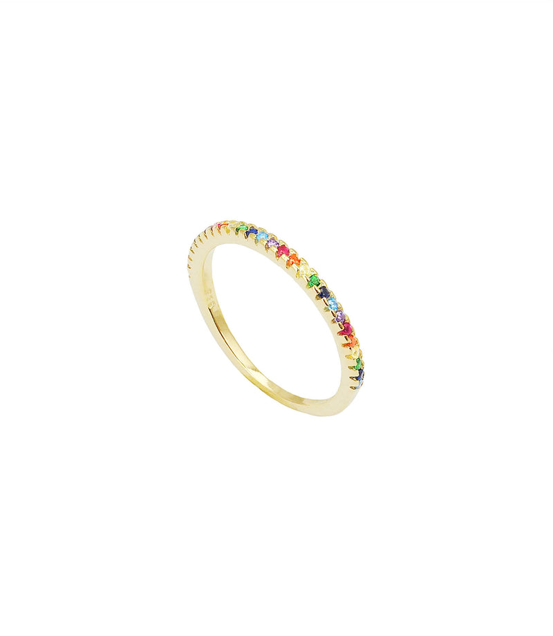 AMAYA | BUNTER RING VERGOLDET | 925 STERLING SILBER