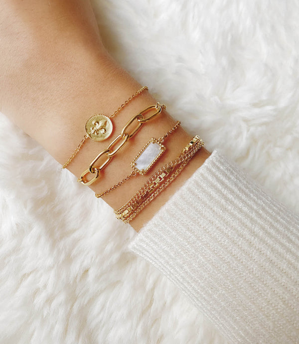 PAIGE | MEHRREIHIGES ARMBAND | GOLD