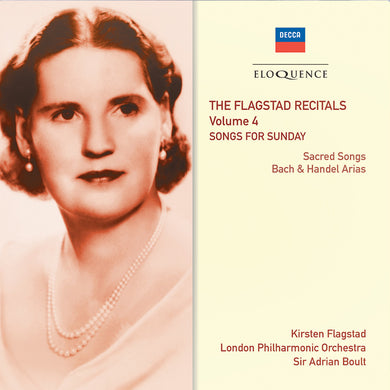 FLAGSTAD RECITALS: VOLUME 4 - SONGS FOR SUNDAY (2 CDS)