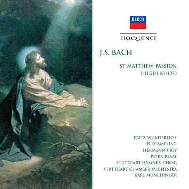 BACH: St Matthew Passion (Highlights) - Munchinger, Ameling, Wunderlich, Prey, Pears