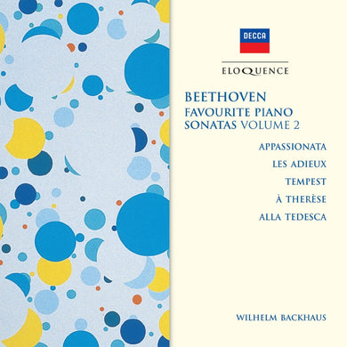 BEETHOVEN: Favourite Piano Sonatas, Volume 2 - Wilhelm Backhaus