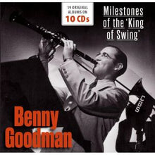 Load image into Gallery viewer, BENNY GOODMAN: MILESTONES OF THE KING OF SWING - 19 ORIGINAL ALBUMS (10 CDS)