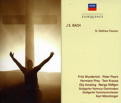 Bach J.S: St Matthew Passion - Karl Munchinger, Peter Pears, Elly Ameling, Fritz Wunderlich (3 CDs)