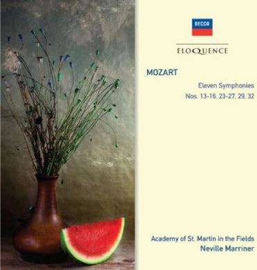 MOZART: SYMPHONIES 13-16; 25, 29, 32 - ACADEMY OF ST. MARTIN IN THE FIELDS, MARRINER (2 CDs)