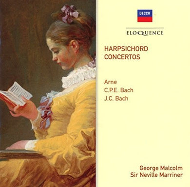 ARNE; C.P.E. BACH; J.C. BACH: HARPSICHORD CONCERTI - GEORGE MALCOLM, ACADEMY OF ST. MARTIN IN THE FIELDS