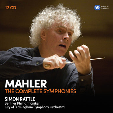 MAHLER: COMPLETE SYMPHONIES - RATTLE, CITY OF BIRMINGHAM SYMPHONY ORCHESTRA, BERLIN PHILHARMONIC (12 CDS)