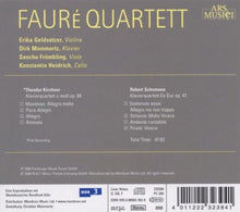 Load image into Gallery viewer, KIRCHNER & SCHUMANN: PIANO QUARTETS - FAURE QUARTETT