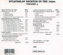 Load image into Gallery viewer, RICHTER IN THE 1950'S - VOLUME 4 (2 CDS)