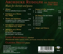 Load image into Gallery viewer, ARCHDUKE RUDOLPH: Music for Clarinet and Piano