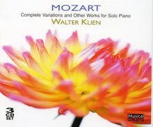 Load image into Gallery viewer, MOZART: COMPLETE VARIATIONS & OTHER SOLO PIANO WORKS - KLIEN (3 CDS)