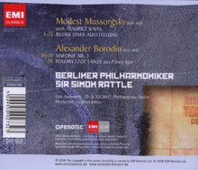 Load image into Gallery viewer, MUSSORGSKY: Pictures at An Exhibition (arr. Ravel); BORODIN: Symphony No. 2 - Simon Rattle, Berliner Philharmoniker