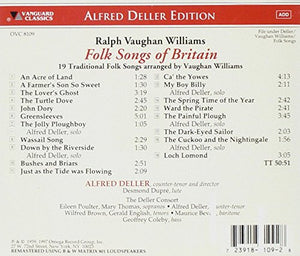 FOLK SONGS OF BRITAIN (ARR. BY RALPH VAUGHAN WILLIAMS) - DELLER CONSORT