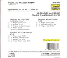 Load image into Gallery viewer, Mozart: Symphonies No. 31, No. 33 & No. 34 - Charles Mackerras, Prague Chamber Orchestra