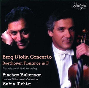 BERG: VIOLIN CONCERTO; BEETHOVEN: ROMANCE - ZUKERMAN, LONDON PHILHARMONIC (2 CDS)