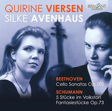 Load image into Gallery viewer, BEETHOVEN: Music for Cello and Piano - Quirine Viersen (cello) & Silke Avenhaus (piano