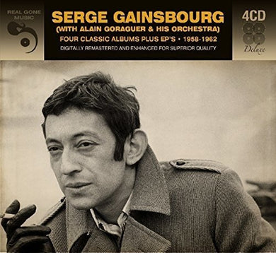SERGE GAINSBOURG W/ALAIN GORAGUER & ORCHESTRA:  Four Classic Albums + EP's 1958-1962 (Digitally Remastered)