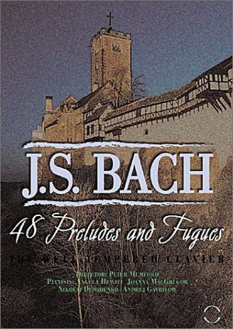 BACH: THE WELL TEMPERED CLAVIER (48 PRELUDES AND FUGUES) - HEWITT; MACGREGOR; DEMIDENKO; GAVRILOW (2 DVDs)