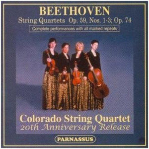 BEETHOVEN: QUARTETS OP. 59 NOS. 1-3 (RAZUMOVSKY QUARTETS) & OP. 74 - COLORADO STRING QUARTET (20TH ANNIVERSARY RELEASE - 2 CDS)
