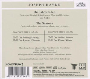 HAYDN: The Seasons - Freiberger Bachorchester (2 CDs)