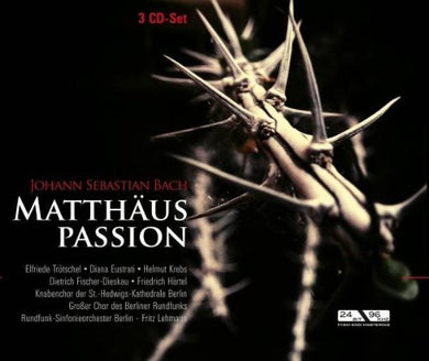 BACH : Matthaus Passion - Historic Complete Recording (3 CDS)