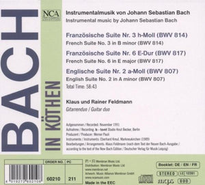 BACH IN KOTHEN (arranged for guitar duo): Klaus and Rainer Feldmann