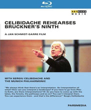 Load image into Gallery viewer, CELIBIDACHE REHEARSES BRUCKNER'S 9TH - MUNICH PHILHARMONIC (BLU-RAY)
