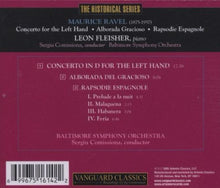 Load image into Gallery viewer, RAVEL: CONCERTO FOR THE LEFT HAND; ALBORADA DEL GRACIOSO - LEON FLEISHER, BALTIMORE SYMPHONY ORCHESTRA