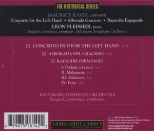 RAVEL: CONCERTO FOR THE LEFT HAND; ALBORADA DEL GRACIOSO - LEON FLEISHER, BALTIMORE SYMPHONY ORCHESTRA