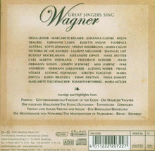 Load image into Gallery viewer, GREAT SINGERS SING WAGNER : Maria Callas, Helen Traubel, Lotte Lehmann, Lauritz Melchior (10 CDs)