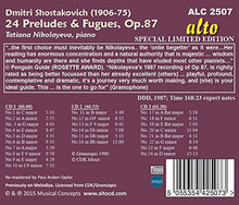 Load image into Gallery viewer, SHOSTAKOVICH: 24 PRELUDES & FUGUES OP. 87 - TATIANA NIKOLAYEVA (3 CDS)