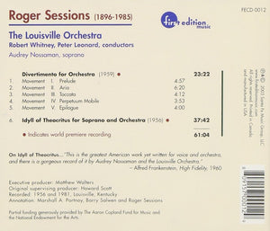SESSIONS: DIVERTIMENTO FOR ORCHESTRA - LOUISVILLE ORCHESTRA
