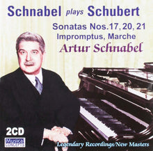 Load image into Gallery viewer, SCHUBERT: 3 LATE SONATAS; FAVORITE IMPROMPTUS - ARTUR SCHNABEL (2 CDS)