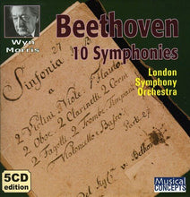 Load image into Gallery viewer, BEETHOVEN: TEN SYMPHONIES - WYN MORRIS, LONDON SYMPHONY (5 CDS)