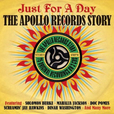 APOLLO RECORDS STORY: Just For A Day.. Solomon Burke, Mahalia, Larks, Dinah Washington and More (3 CDs)
