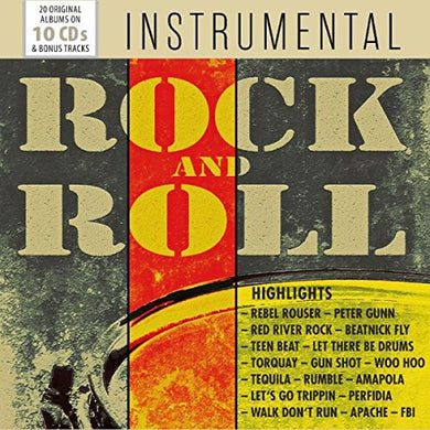 INSTRUMENTAL ROCK AND ROLL - LINK WRAY, DUANE EDDY, THE VENTURES, DICK DALE AND MORE (10 CDS)