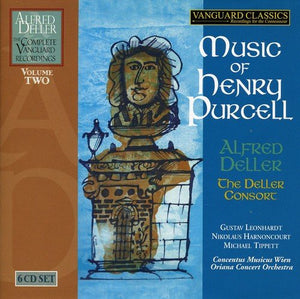 ALFRED DELLER: COMPLETE VANGUARD CLASSICS RECORDINGS, VOLUME 2 - MUSIC OF HENRY PURCELL (6 CDS)
