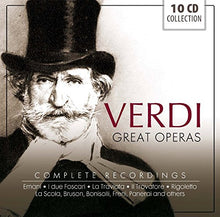 Load image into Gallery viewer, VERDI: GREAT OPERAS - Complete Recordings (10 CDS)