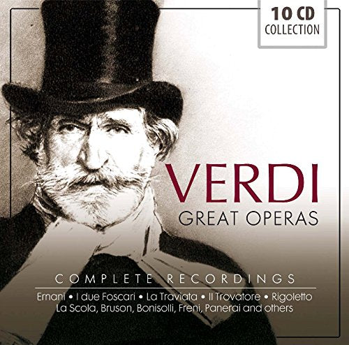 VERDI: GREAT OPERAS - Complete Recordings (10 CDS)