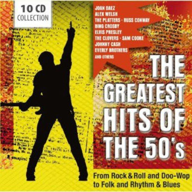 GREATEST HITS OF THE '50S: ROCK & ROLL, FOLK, RHYTHM & BLUES, DOO-WOP AND MORE (10 CDS)