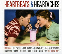 Load image into Gallery viewer, HEARTBEATS & HEARTACHES: Cliff Richard, Buddy Holly, Everly Brothers, Paul Anka, Neil Sedaka (2 CDs)