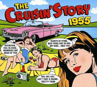 CRUISIN' STORY 1955: Charms, Moonglows, Cleftones, Penguins, Five Keys, Clovers (2 CDS)
