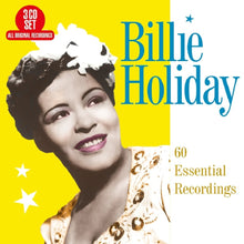 Load image into Gallery viewer, BILLIE HOLIDAY: 60 Essential Recordings (3 CDS)